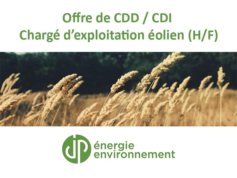 Offre de CDD/CDI : Chargé d'exploitation éolien (H/F)