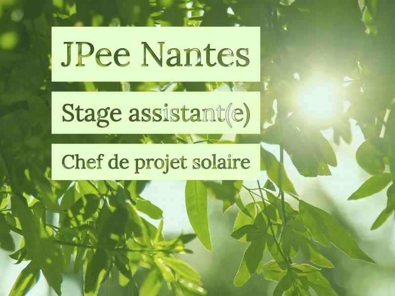 Stage assistant(e) chef de projet solaire – JPee Nantes