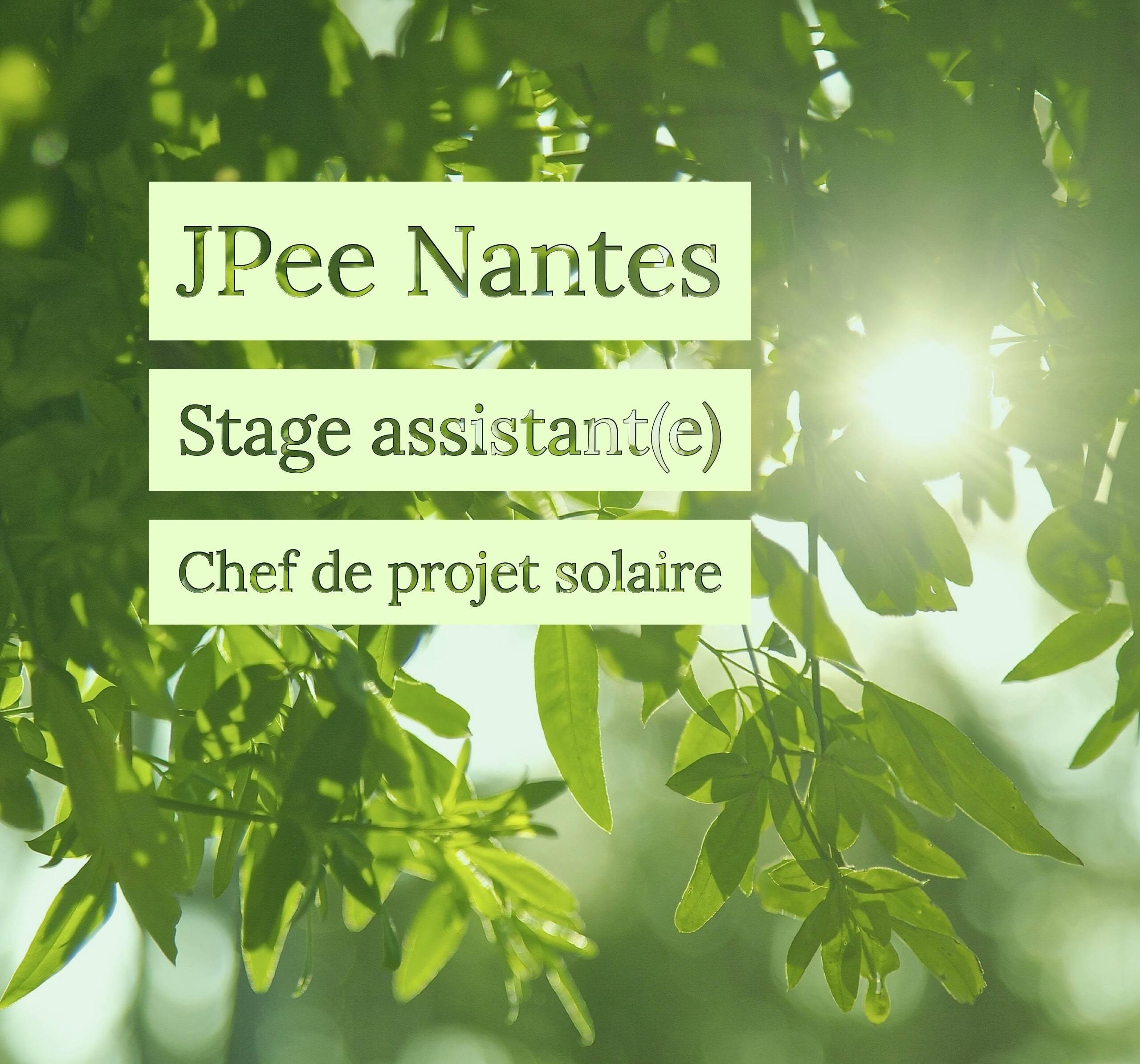 [Stage] Assistant(e) Chef de projets solaires (Nantes)