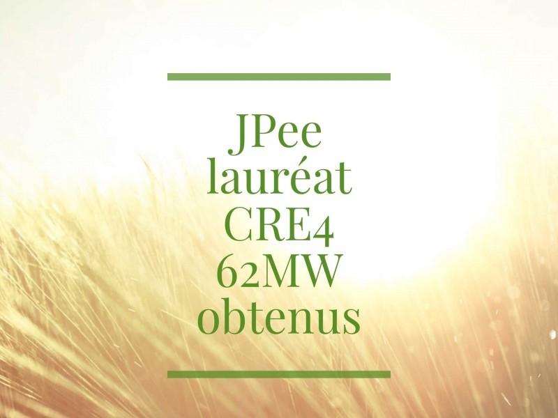 Résultat Appel d'offres CRE4 : JPee dans le trio de tête des lauréats avec 62 MW obtenus