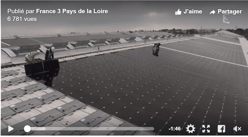 JPee fait l'actualité sur France 3 avec la plus grande centrale photovoltaïque des Pays de Loire