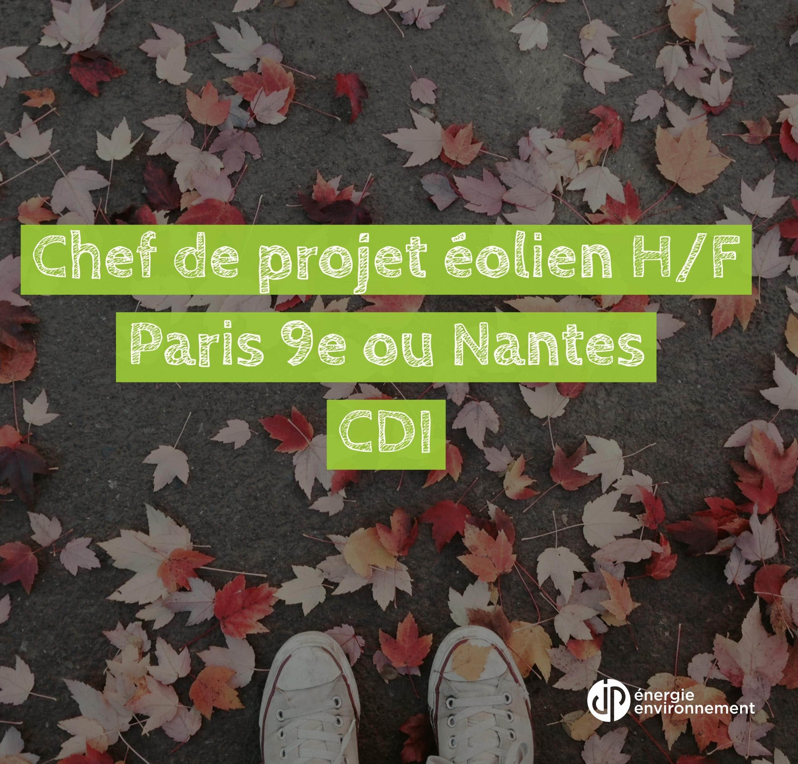 [JOB] CHEF DE PROJET EOLIEN H/F (CDI) Paris ou Nantes