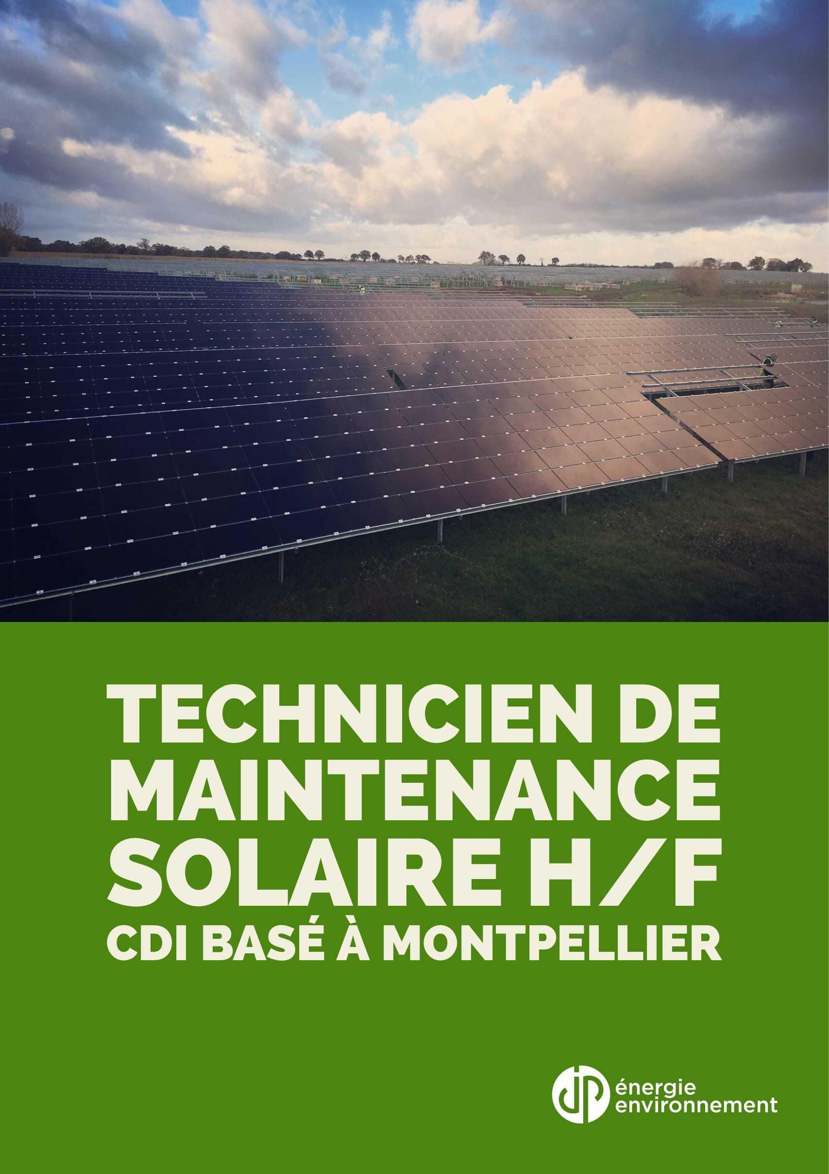 [JOB] CDI -Technicien de maintenance solaire H/F Montpellier