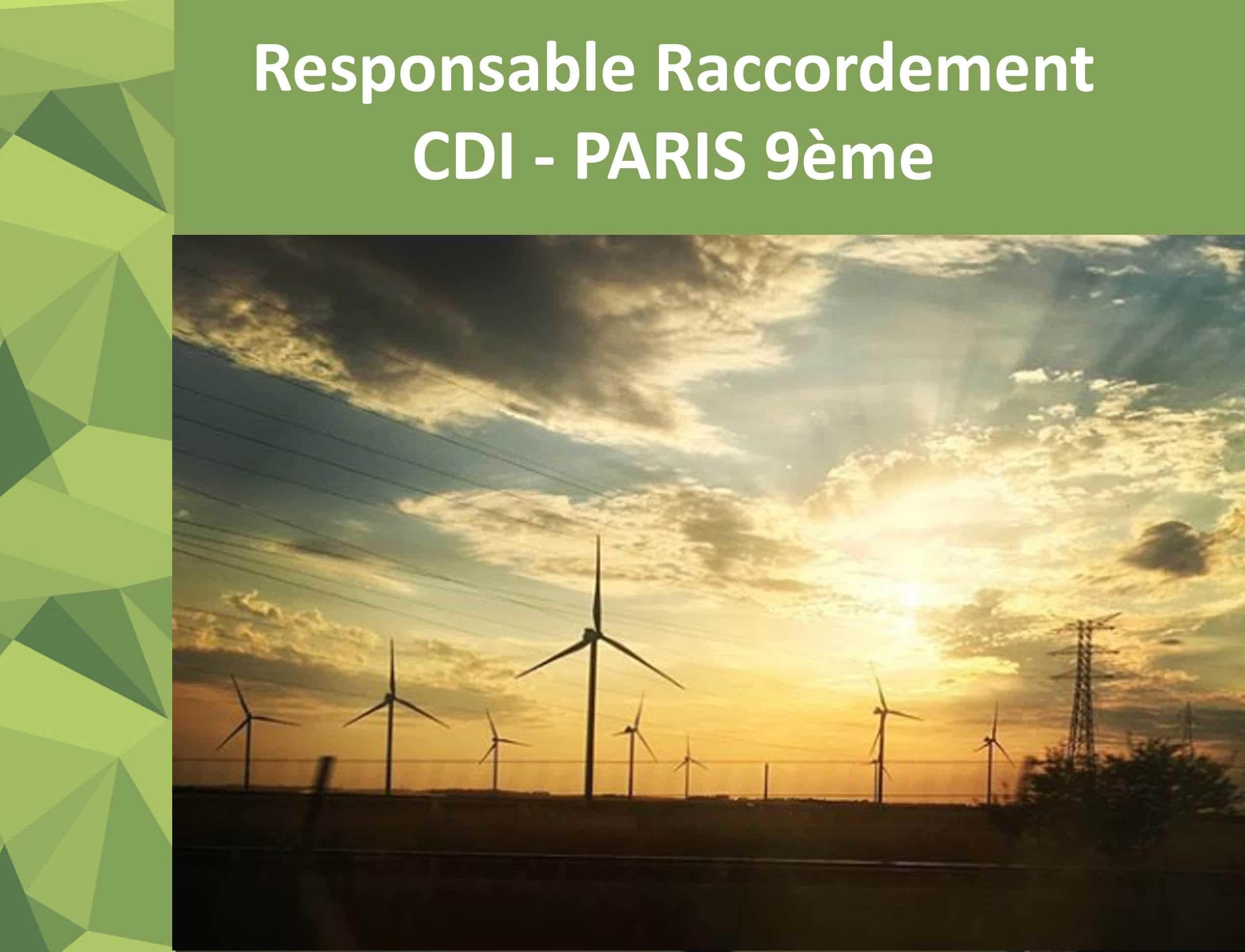 [JOB] CDI – Ingénieur projet énergies renouvelables (H/F) – Paris 9ème