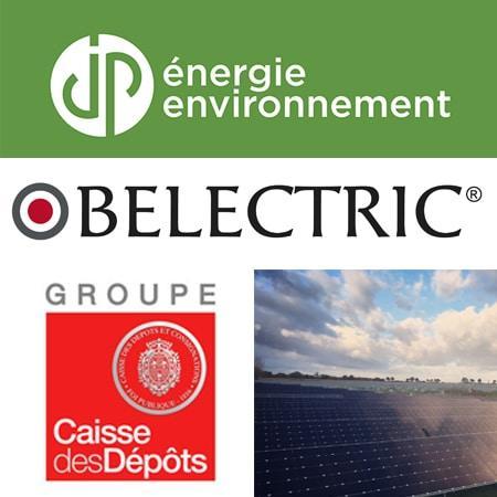 JP Énergie Environnement et la Caisse des Dépôts acquièrent deux projets photovoltaïques auprès de BELECTRIC