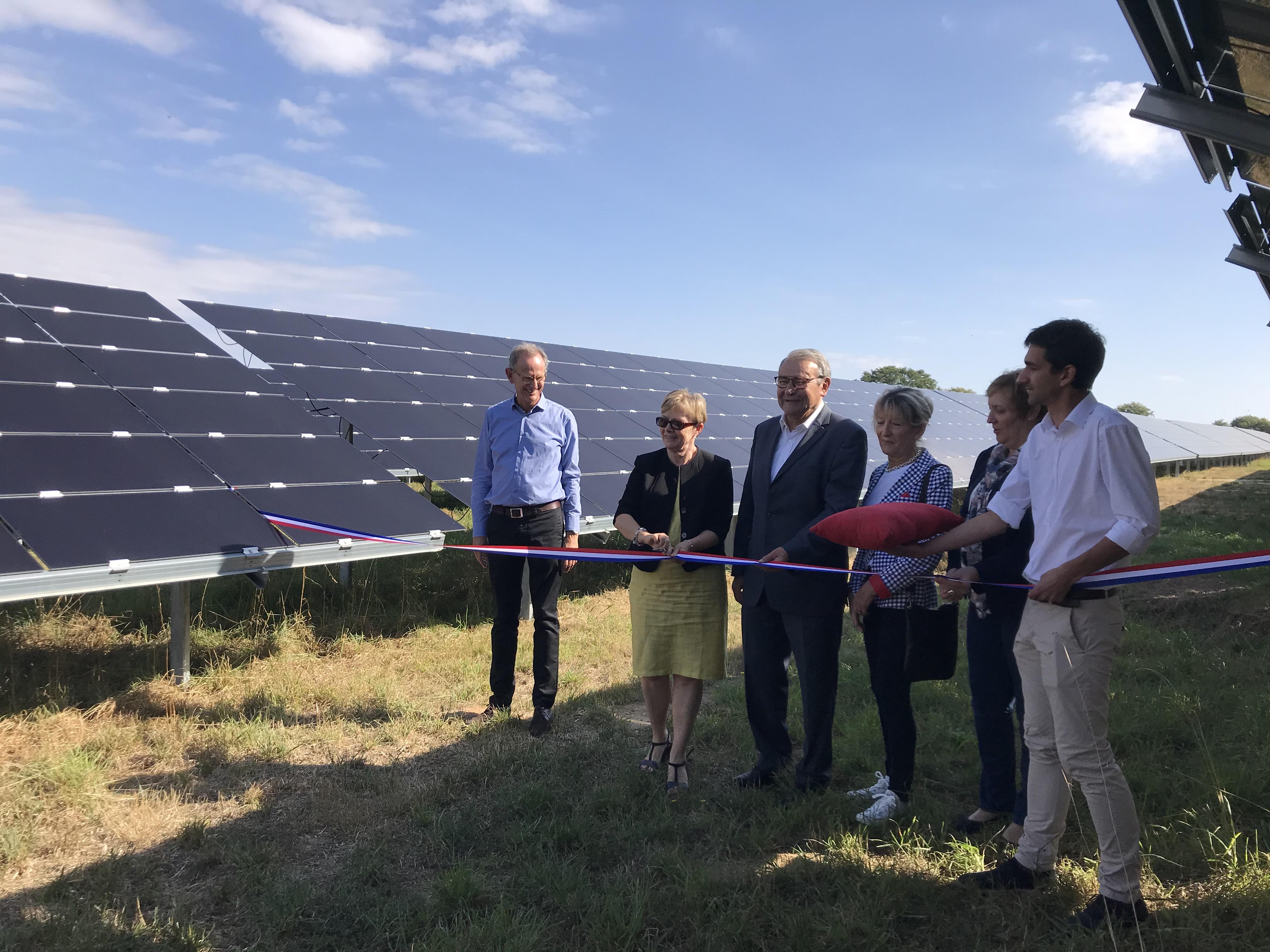 Inauguration de la plus grande centrale solaire de la région Auvergne Rhône Alpes