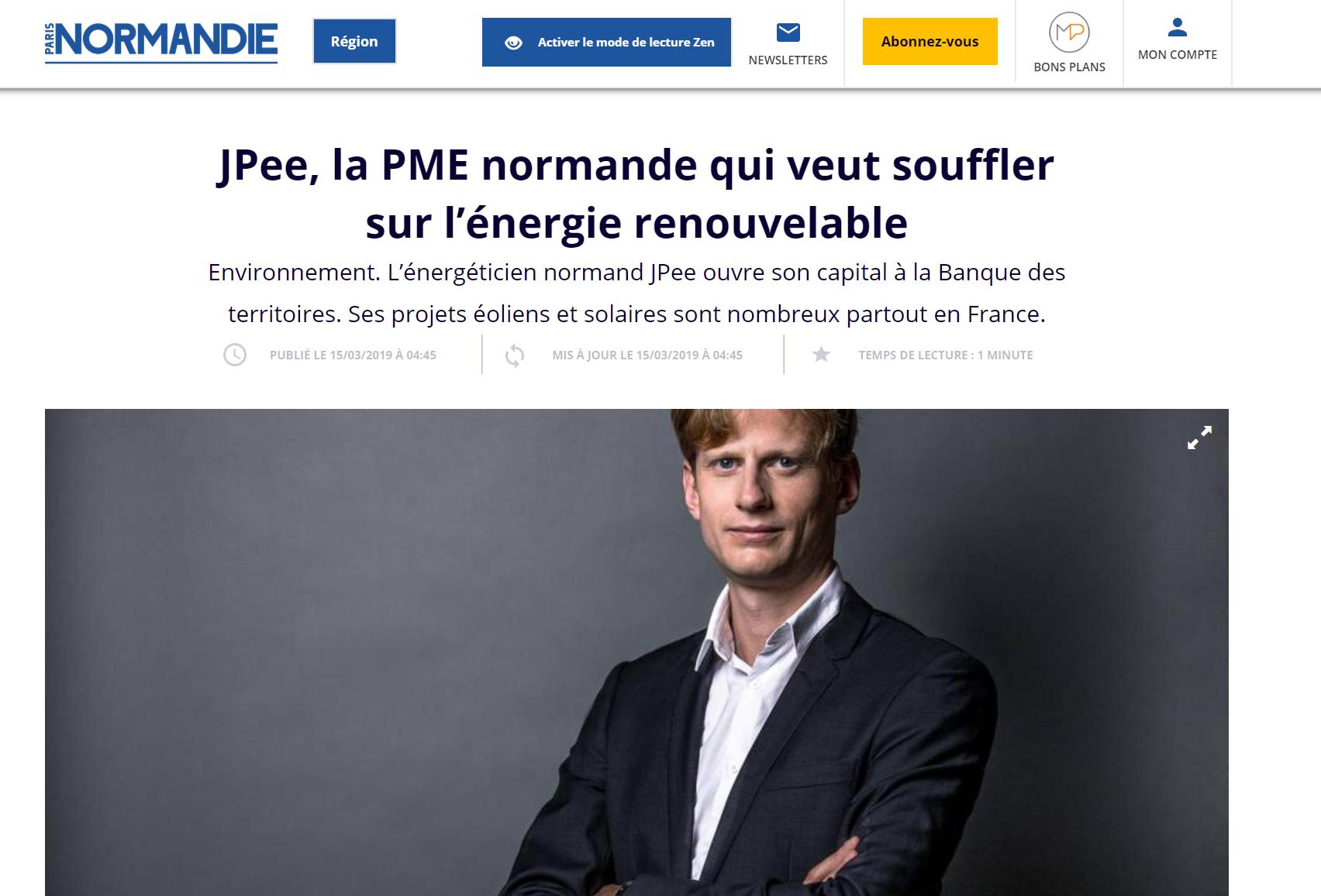 JPee, la PME normande qui veut souffler sur l'énergie renouvelable