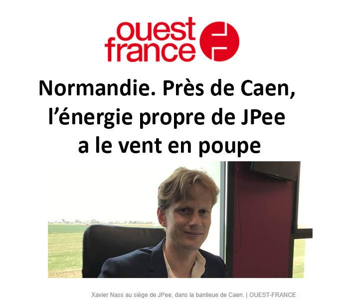 [Ouest-France 5/03/2019] Normandie. Près de Caen, l'énergie propre de JPee a le vent en poupe
