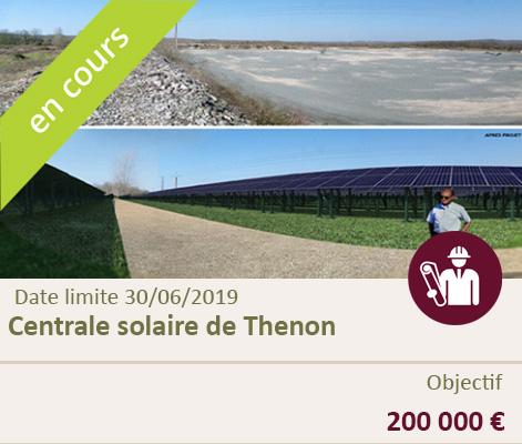 Lancement du financement participatif de la centrale solaire de Thenon (Dordogne)